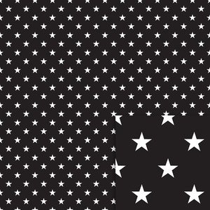 black stars background paper