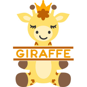 split giraffe and crown