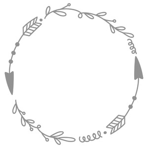 arrow doodle circle