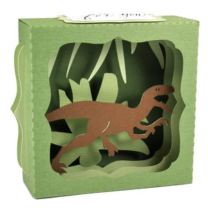 velociraptor gift card box