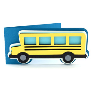school bus card