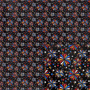 magical fireworks background paper