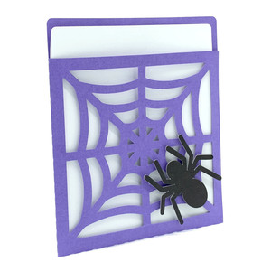 web and spider card