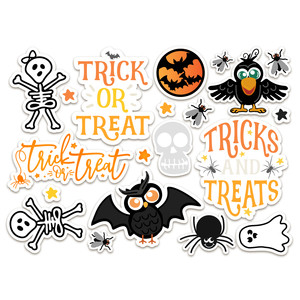 halloween stickers-trick or treat