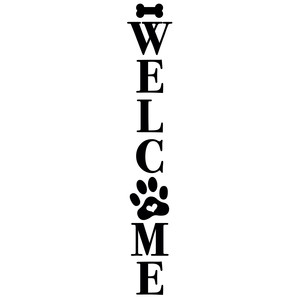 welcome pet porch sign