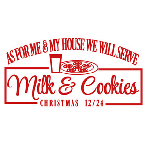 me and my house milk & cookies