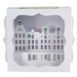 christmas cityscape gift card box