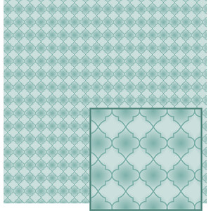 filled in aqua quatrefoil pattern
