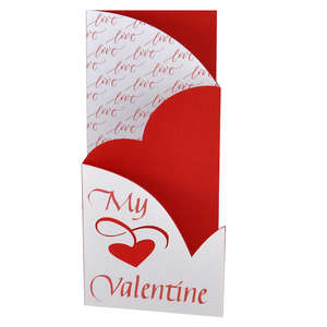 valentine love accordion-fold card