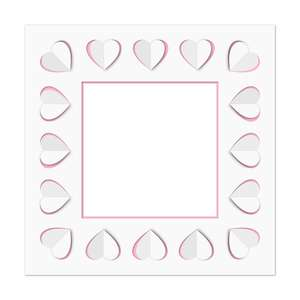 pop out hearts square frame