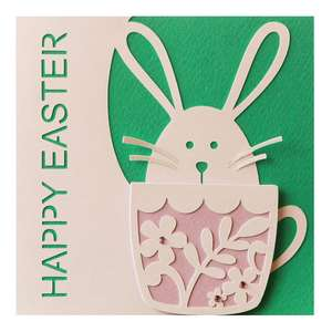 easter bunny flourish card