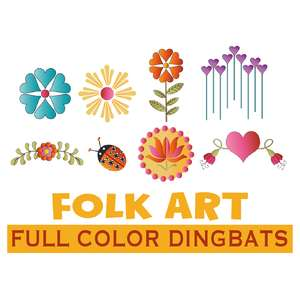 SI folk art dingbats fonts