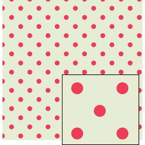cream and pink larger polka dot pattern