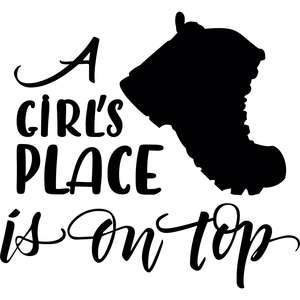 a girl's place is on top