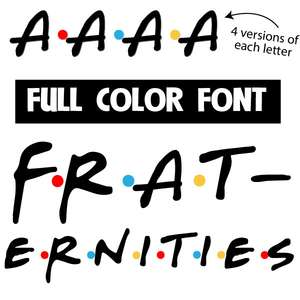 fraternities color font