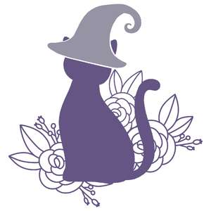floral witchy cat