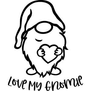 love my gnomie valentines day gnome