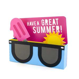 out of school sunglasses card