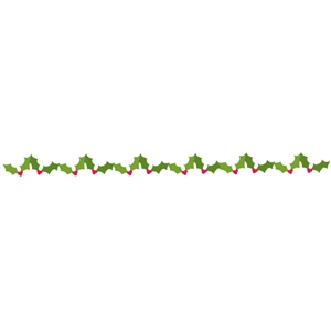 holly banner / border strip
