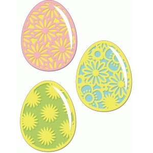 flowered easter eggs