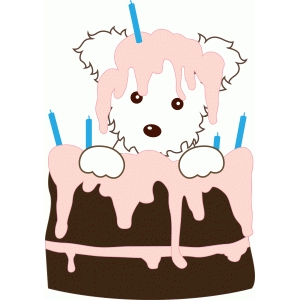puppy in cake
