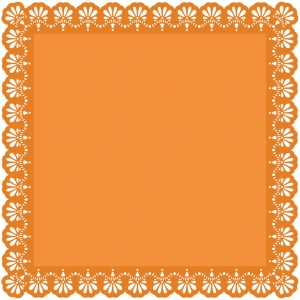 12 x 12 samantha walker lace edge square