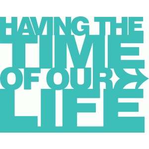 'having the time of our life' phrase