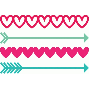 arrow & heart borders