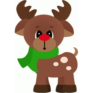 rudy the reindeer standing christmas