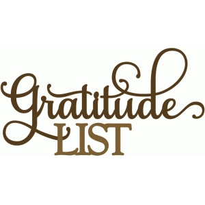 gratitude list - perfect flourish
