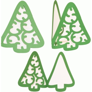 card christmas tree charm