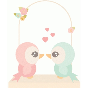 lovebirds on a swing