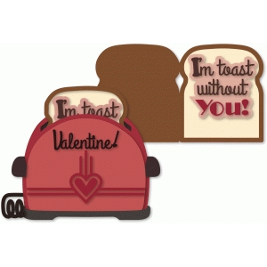 valentine toaster with toast 5x7 card