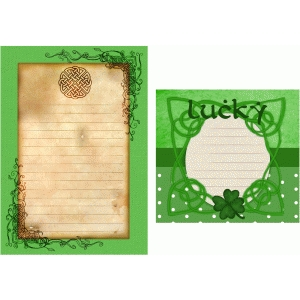 st patrick's day journaling cards
