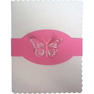 butterfly pop up belly band