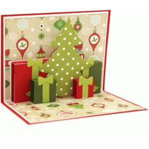a2 christmas scene pop up card