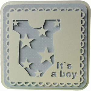 5x5 baby boy layer card
