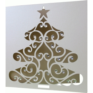 5x5 christmas tree card