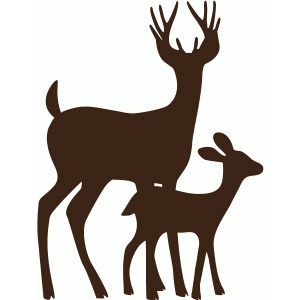 father and son deer