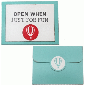 open when-just for fun envelope