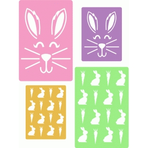 easter bunny pocket cards