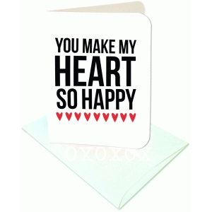 you make my heart happy a2 card