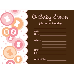 girl baby shower invite