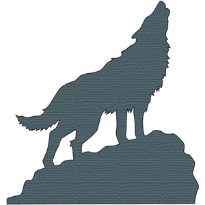 Silhouette Design Store View Design 13356 Howling Wolf