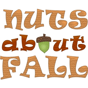 nuts about fall phrase