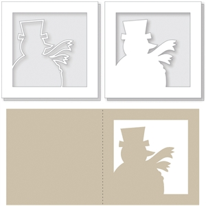 snowman card overlays & card