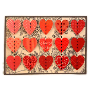hearts stitched centers a7 card