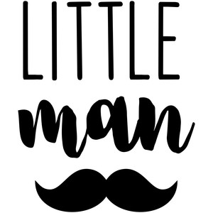 baby t-shirt: little man