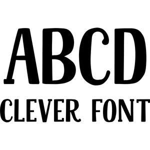 clever font