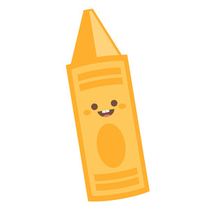 cute yellow crayon